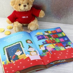 Personalised Magical Christmas Story Book And Teddy Bear Gift Set