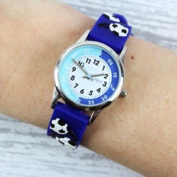 Personalised Kids Blue Time Teacher Watch