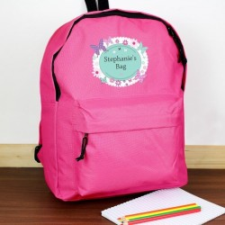 Personalised Butterfly School Backpack