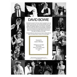 Personalised David Bowie Pictorial Edition Newspaper Book In A Gift Box