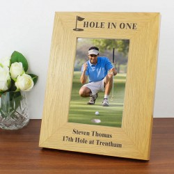 Personalised 4x6 Golf Wooden Picture Frame