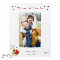 Personalised 4x6 Boofle White Picture Frame