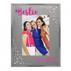 Personalised 4x6 Bestie Diamante Glass Photo Frame
