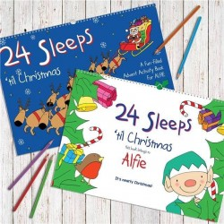 Personalised 24 Sleeps Til Christmas Activity Book