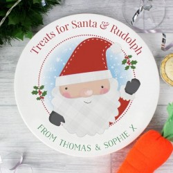 Personalised Santa Claus Christmas Eve Plate