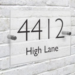 Personalised Modern House Sign