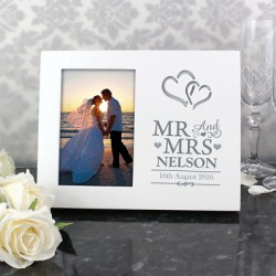 Personalised 4x6 Mr&Mrs Light Up Picture Frame
