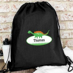 Personalised Dinosaur Kids Swim & PE Kit Bag