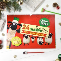 Personalised Shaun The Sheep 24 Sheeps Till Christmas Activity Advent Calendar