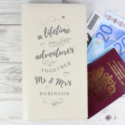 Personalised A Lifetime Of Adventures Together Travel Document Holder