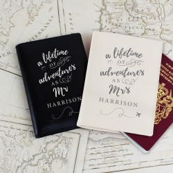 Personalised 'Lifetime of Adventures' Pair Of Passport Holders