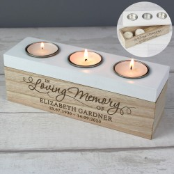 Personalised In Loving Memory  Tea Light Box