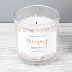 Personalised Floral Watercolour Scented Candle In A Jar