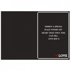 Personalised I'm In Love With Card