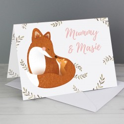 Personalised Mummy & Me Fox Card
