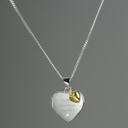 Personalised 3 Hearts Necklace Gold, Rose Gold and Silver