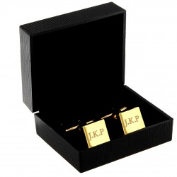 Personalised Initials Gold Plated Cufflinks