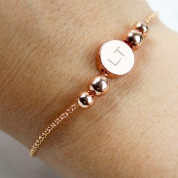 Personalised Initials Disc Bracelet