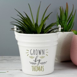 Personalised 'Grown By' Porcelain Planter