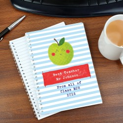 Personalised 'Happy Apple' A5 Notebook