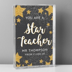 Personalised 'You Are A Star Teacher' Glitter Shaker Frame