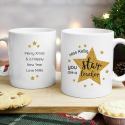 Personalised 'You Are A Star Teacher' Mug