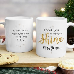 Personalised 'Thank you for helping me shine' Mug